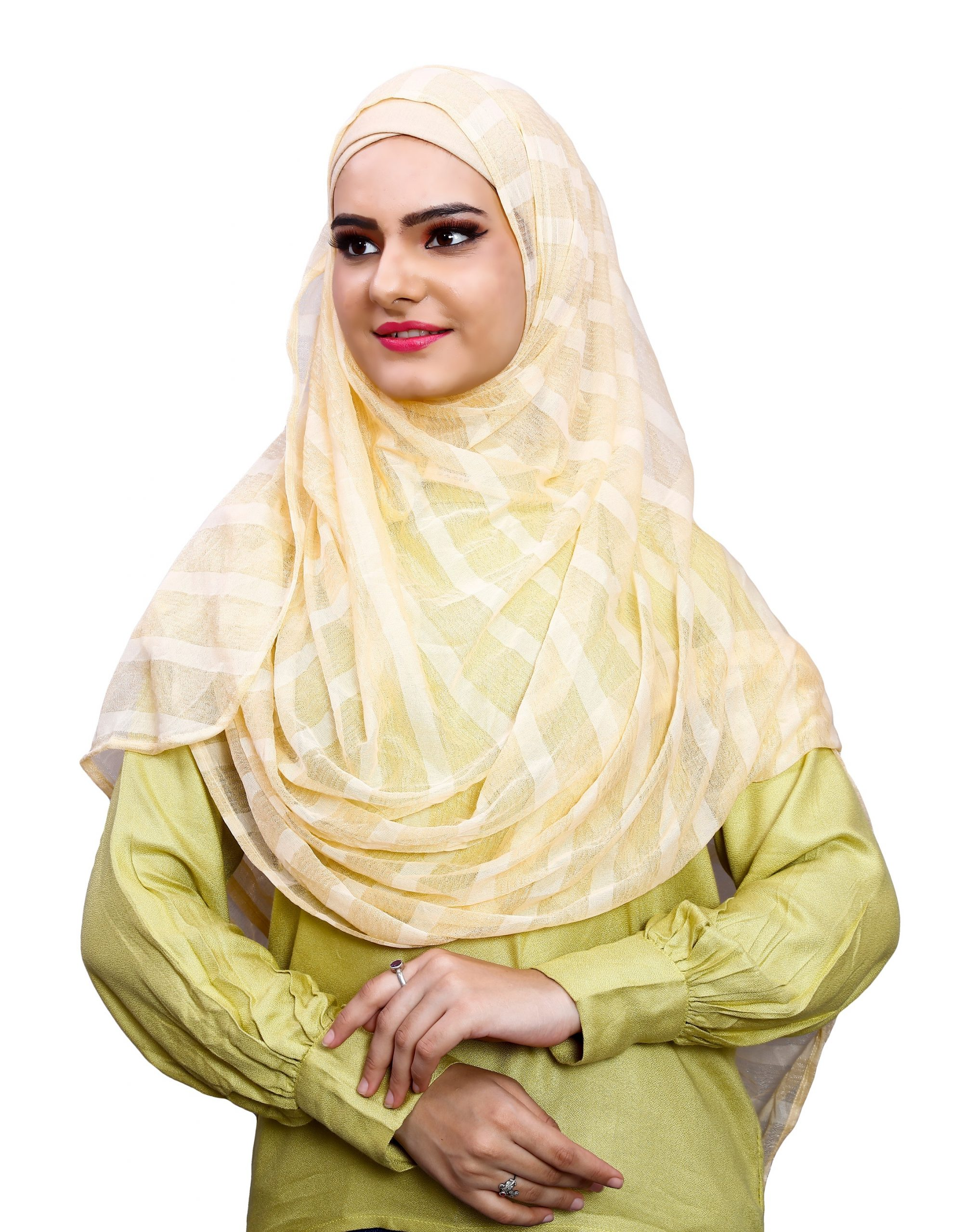 Daily Wear Beige Color Instant Hijab Scarf For Women (To