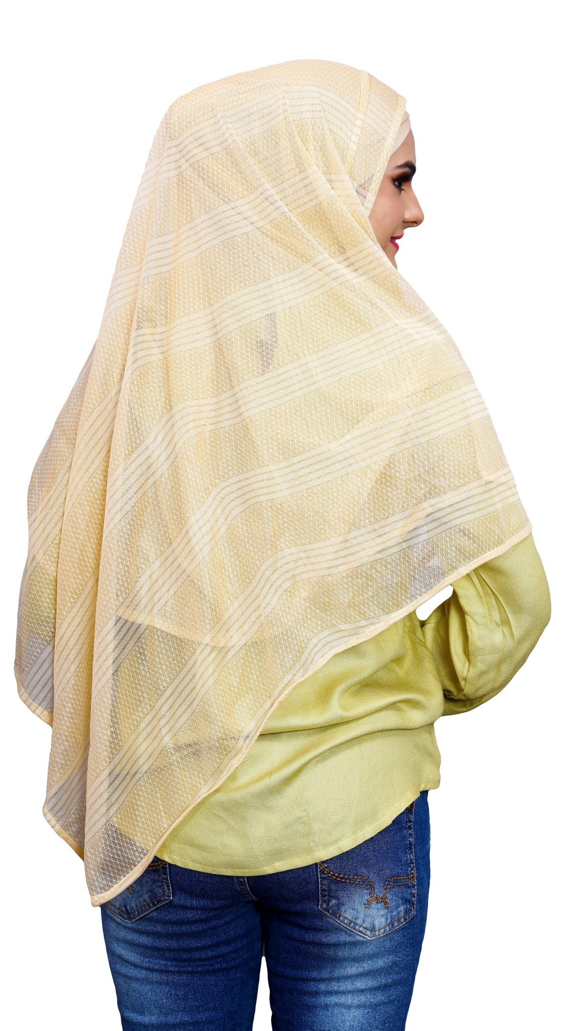Plain Daily Wear Stitched 2 Loop Instant Hijab Scarf For